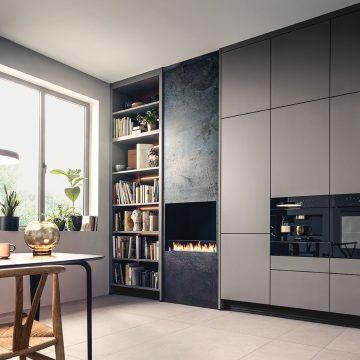 Y-Chair CH24 von Carl Hansen & Son, Entwurf von Hans Wegner, in einer grifflosen Küche Next125
