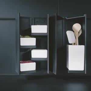 Design Küchenausstattung mit Porzelanschalen